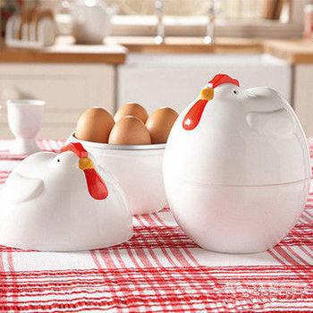 【OMORY】公雞造型微波煮蛋器(4顆入)
