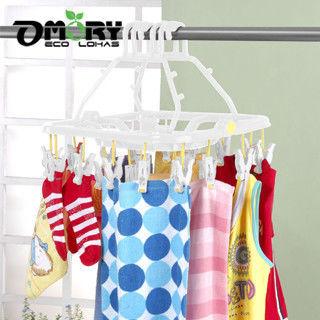 【OMORY】好神奇台製秒收曬衣架(22夾)
