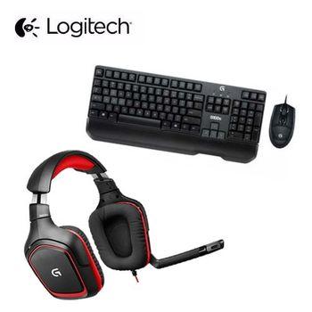 [電競組合包]  【Logitech 羅技】G100S鍵鼠+G230遊戲耳麥+隨行杯