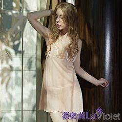 薇奧莉-甜蜜綺想-性感微透柔紗兩件式睡衣