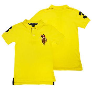 【US POLO】彩色馬球黃色短袖POLO杉(現貨)