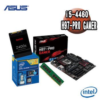 【華碩平台】Intel i5-4460+ H97-PRO GAMER 主機板+4G記憶體 +128G  SSD 優質組合