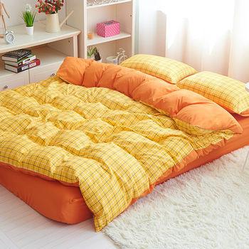 RODERLY 夏日陽光 雙色條紋 單人三件式兩用被床包組
