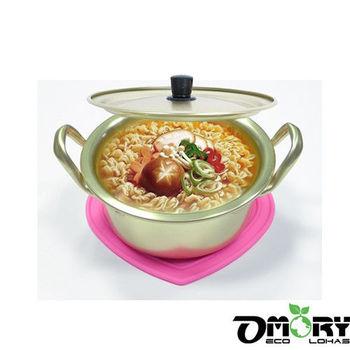 【OMORY】經典雙耳韓國泡麵鍋16CM(附鍋蓋)隨貨限量贈品