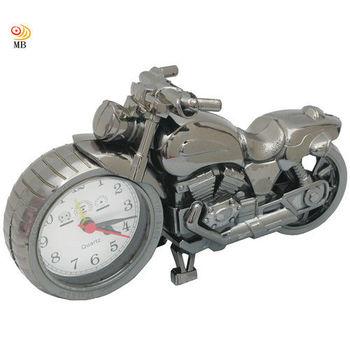 月陽22cm烏金色仿古摩托車時鐘鬧鐘座鐘(PF168B)