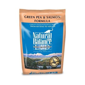【Natural Balance】低敏-無穀青豌豆鮭魚-全貓 5磅 X 1包