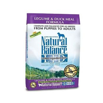 【Natural Balance】低敏無穀鷹嘴豆鴨肉-全犬 4.5磅 X 1包