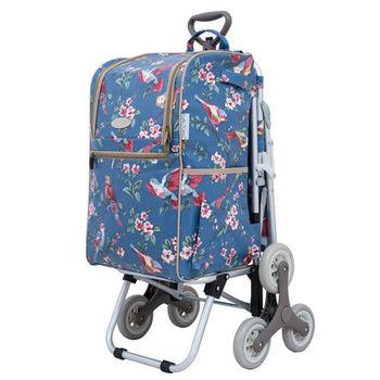 卡蘿輕便時尚購物車-28L三輪有椅-鳥語花香
