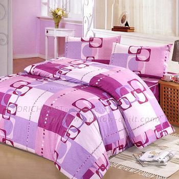 【Victoria】旋律紫 防蟎單人床包+枕套二件組