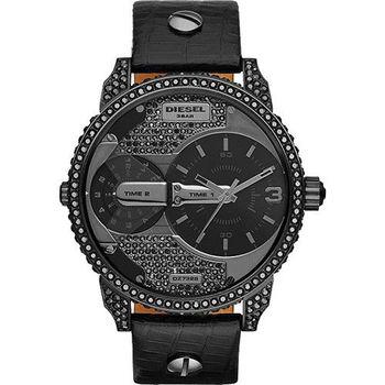 DIESEL 龐克黑勢力腕錶-黑/46mm DZ7328