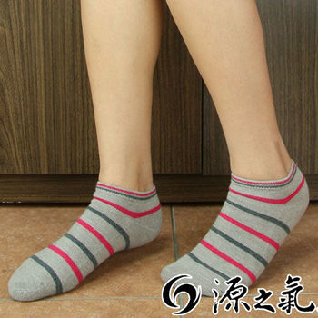 【源之氣】竹炭條紋船型休閒運動襪/女 6雙組 RM-30005