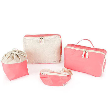 【iSFun】母嬰專用*多功能4件組收納袋/二色