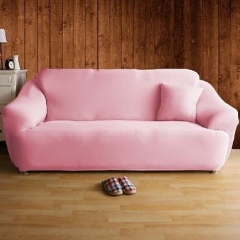 【HomeBeauty】恆溫紗彈性沙發罩-4人座(草莓塔)