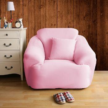 【HomeBeauty】恆溫紗彈性沙發罩-1人座(草莓塔)