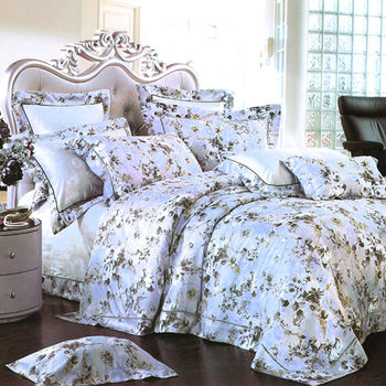 【Betrise】安德莉亞-頂級100%加大60支長絨棉四件式兩用被床包組