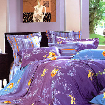 【Betrise】漫步雲端-頂級100%雙人60支長絨棉四件式兩用被床包組