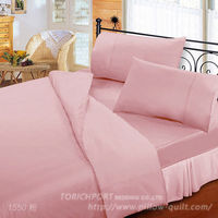 ~Victoria~防蟎機能 純棉素色加大床包 ^#43 枕套三件組 粉色