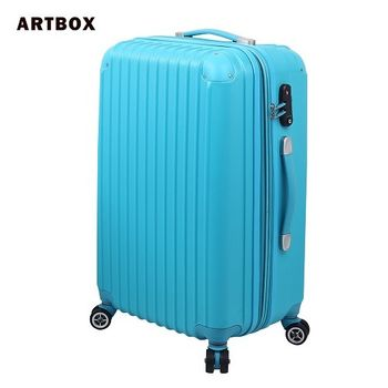 【ARTBOX】迷戀經典 - 24吋ABS可加大硬殼行李箱(湖藍)