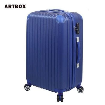 【ARTBOX】迷戀經典 - 20吋ABS可加大硬殼行李箱(寶藍)