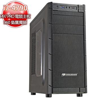 華碩電競平台【螺旋冰釘】i7四核 960 2G梟鷹高速獨顯 急速SSD120G 8G制裁機