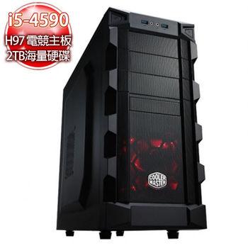 華碩電競平台【千戰魔神】i5四核 H97電競主板 960 2G 2TB超大海量8G極速電競機