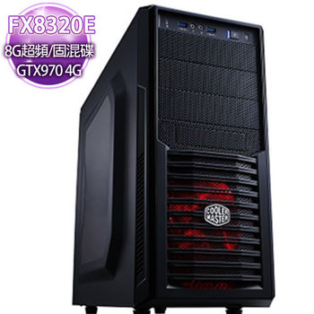 華碩ROG平台【無畏戰嚎】 AMD FX八核 990主板 獨顯GTX970 4G 大容量固混碟電競機