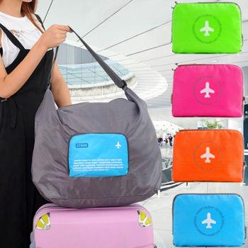 【Bunny】大容量多功能可摺疊肩背式旅行收納袋(40 L)