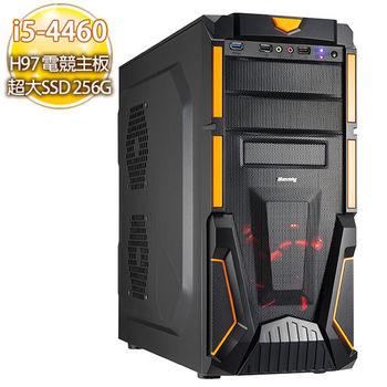 華碩H97電競平台【螺旋翔雨】i5-4460四核心750TI PH獨顯 240SSD燒錄電腦