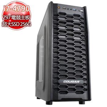 華碩電競平台【雙打臥龍】i7-4790 四核心 SSD240 970獨顯燒錄電腦