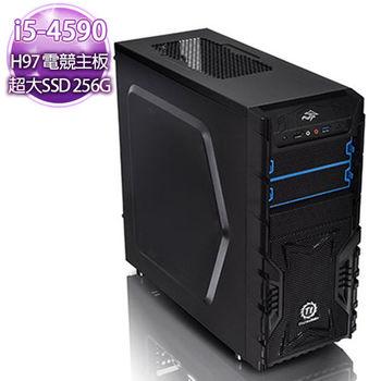 華碩H97平台【怒火無雙】i5-4590 四核心750獨顯 256SSD燒錄電腦
