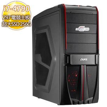 華碩電競平台【暗影之矛】 i7-4790 四核心 Z97電競板16G 750TI獨顯SSD 256G燒錄電腦
