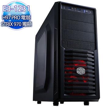 華碩電競平台【怒雷閃現】E3四核 970 4G超強獨顯 SSD120G 1T海量劍靈機
