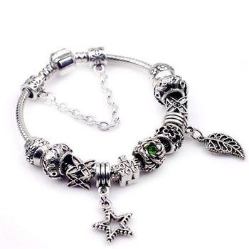 【米蘭精品】潘朵拉元素串珠手鍊925純銀手鍊