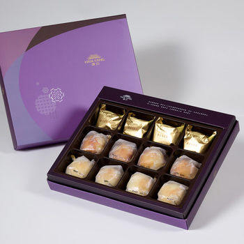 【臻饌】綜合12入禮盒★鳳梨核桃*4+蛋黃酥*4+金沙小月*4(2盒)