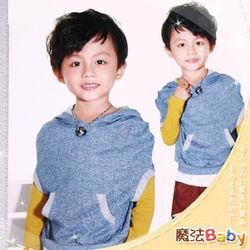 魔法Baby ~韓版連帽袋鼠東森電視購物節目表口袋款上衣~k24203