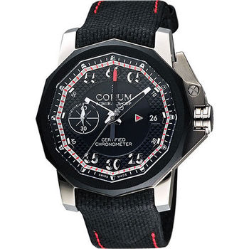 Corum 崑崙 海軍上將 獨立小秒針限量機械腕錶-黑/44mm 961.101.04/F231 AN14