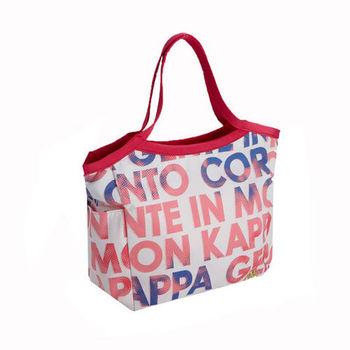 KAPPA義大利時尚女生托特包1個-薔薇粉-UG42-G928-1