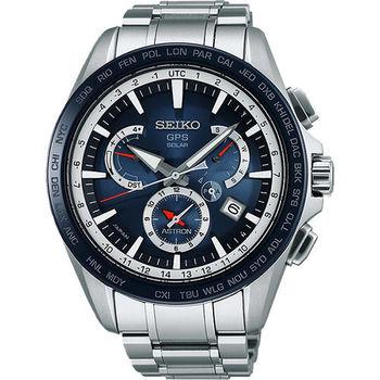 SEIKO ASTRON GPS衛星電波腕錶-藍/45mm 8X53-0AD0B(SSE053J1)