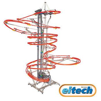 【德國eitech】益智鋼鐵玩具-進化版彈珠雲霄飛車 C600