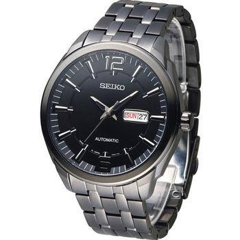 SEIKO 精工 SPIRIT 英倫紳士機械腕錶 7S26-04H0SD SNKN63J1 全黑