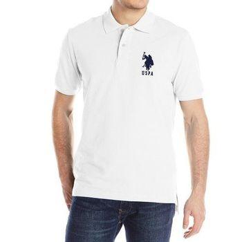 US Polo 2015男時尚馬球3號白色寬鬆款短袖POLO(預購)