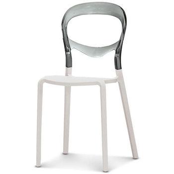 【椅吧】未來風透明灰造型休閒椅