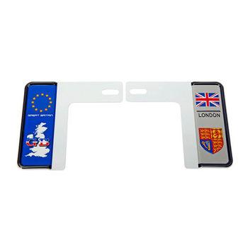 3D 7碼專利精緻裝飾車牌框 英國地圖款
