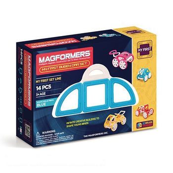 【Magformers 磁性建構片】寶貝金龜車14pcs-藍 ACT06104