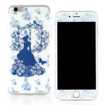 【Disney 】iPhone 6 plus 強化玻璃彩繪保護貼-灰姑娘