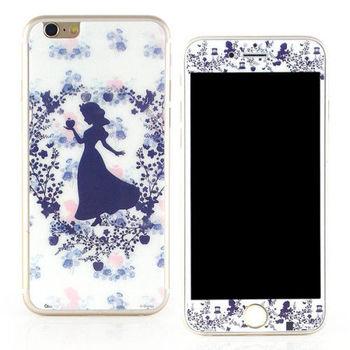 【Disney 】iPhone 6 plus 強化玻璃彩繪保護貼-白雪公主