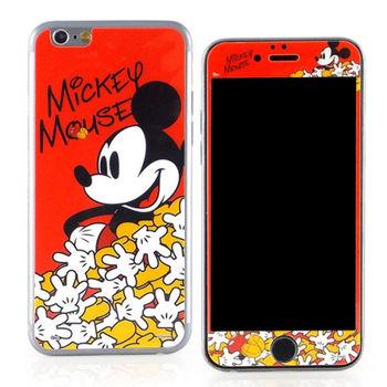 【Disney 】iPhone 6 plus 強化玻璃彩繪保護貼-米奇