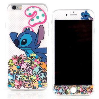 【Disney 】iPhone 6 plus 強化玻璃彩繪保護貼-尋找醜ㄚ頭