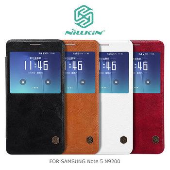 【NILLKIN】 SAMSUNG Galaxy Note 5 N9200/N9208 秦系列開窗款側翻皮套