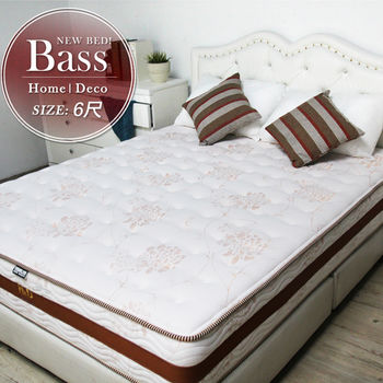 UNICORN龍馬名床 BASS舒柔透氣長纖獨立筒床墊-雙人加大6尺